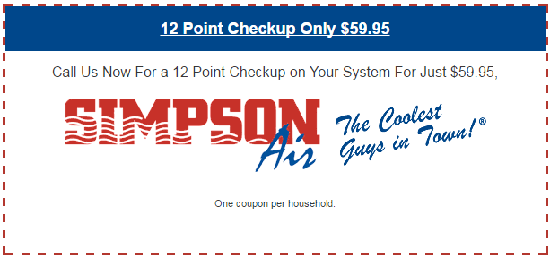 12 Point Checkup Only $59.95
