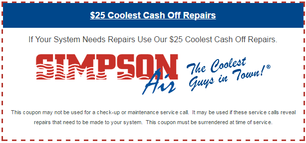 $25 Coolest Cash Off Repairs