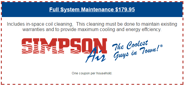 Full System Maintenance $179.95